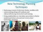 new technology planning techniques
