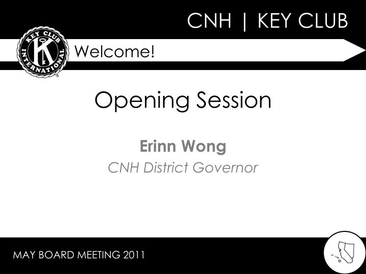 opening session n.
