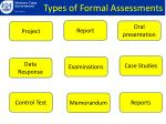 fo types of formal assessments