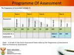 programme of assessment1
