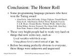 conclusion the honor roll