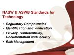 nasw aswb standards for technology1