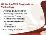 nasw aswb standards for technology2