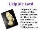 help me lord1