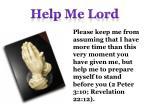 help me lord14