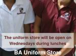 ba uniform store