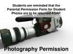 photography permission