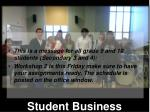 student business