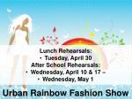 urban rainbow fashion show