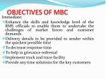 objectives of mbc