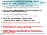 summary of president s working group report on tria april 2014