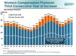 workers compensation premium third consecutive year of increase net written premium