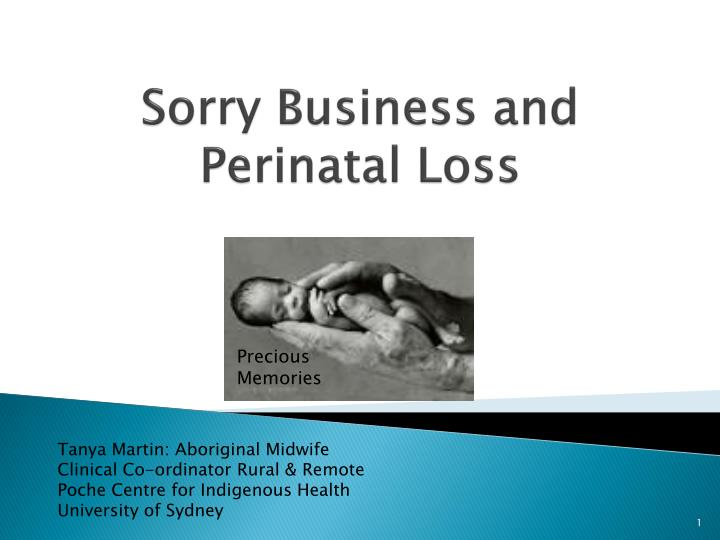 sorry business and perinatal loss n.