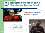 an unexpected connection at the nas frontiers of science conf4