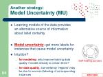 another strategy model uncertainty mu1