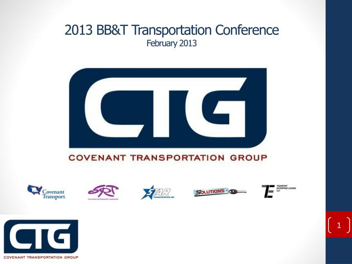 2013 bb t transportation conference february 2013 n.