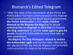 bismarck s edited telegram