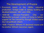 the development of prussia