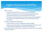 higher resolution nhd plus