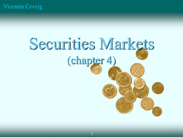 securities markets chapter 4 n.