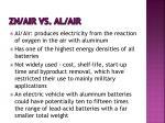 zn air vs al air