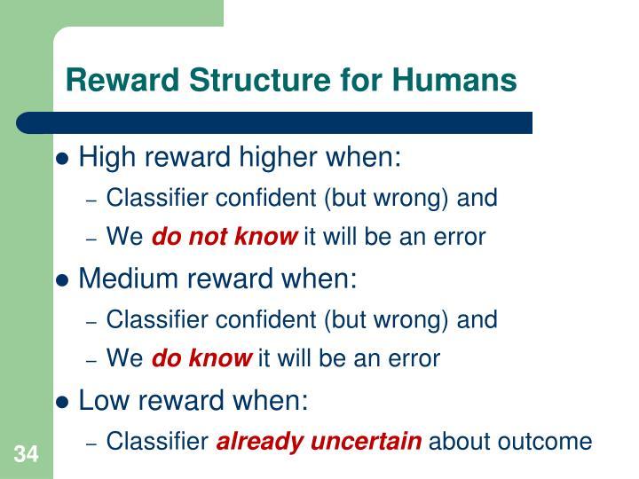 Reward Structure for Humans