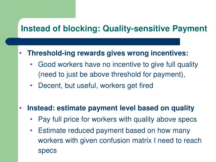 Instead of blocking: