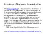army corps of engineers knowledge hub