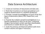 data science architecture