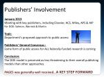 publishers involvement