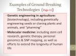 examples of ground breaking technologies page 12