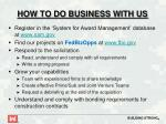 how to do business with us