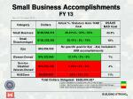 small business accomplishments fy 13