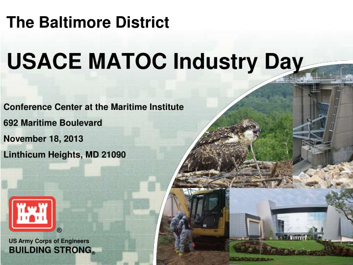 the baltimore district usace matoc industry day n.