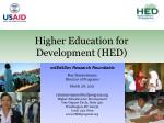 higher education for development hed