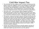cold war impact too