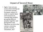 impact of second wave