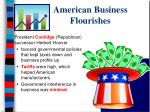 american business flourishes