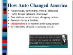 how auto changed america