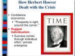 how herbert hoover dealt with the crisis