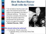 how herbert hoover dealt with the crisis1