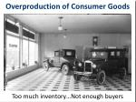 overproduction of consumer goods