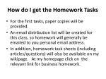 how do i get the homework tasks