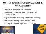 unit 1 business organizations management