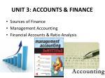 unit 3 accounts finance