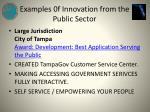 examples 0f innovation from the public sector3
