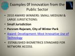 examples 0f innovation from the public sector4