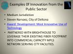examples 0f innovation from the public sector5