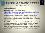 examples 0f innovation from the public sector6