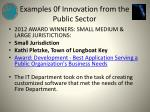 examples 0f innovation from the public sector7
